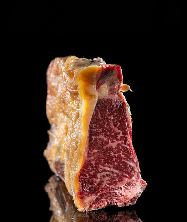 Chuleta de lomo bajo madurada y con inflitración máxima