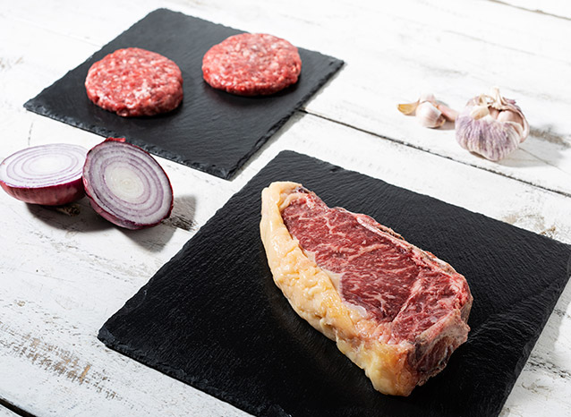Lotes de carne seleccionada y madurada